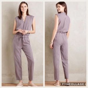 Anthropologie Cloth Stone Crossover Jumpsuit